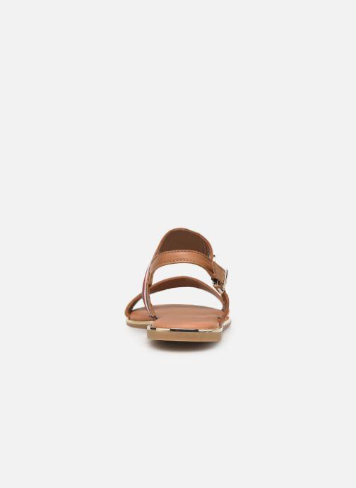 Sandales et nu-pieds Tommy Hilfiger Flat Sandal C Marron vue droite