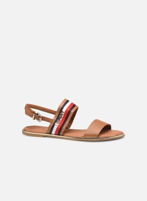 Sandales et nu-pieds Tommy Hilfiger Flat Sandal C Marron vue derrière