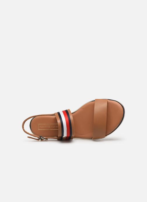 Sandales et nu-pieds Tommy Hilfiger Flat Sandal C Marron vue gauche