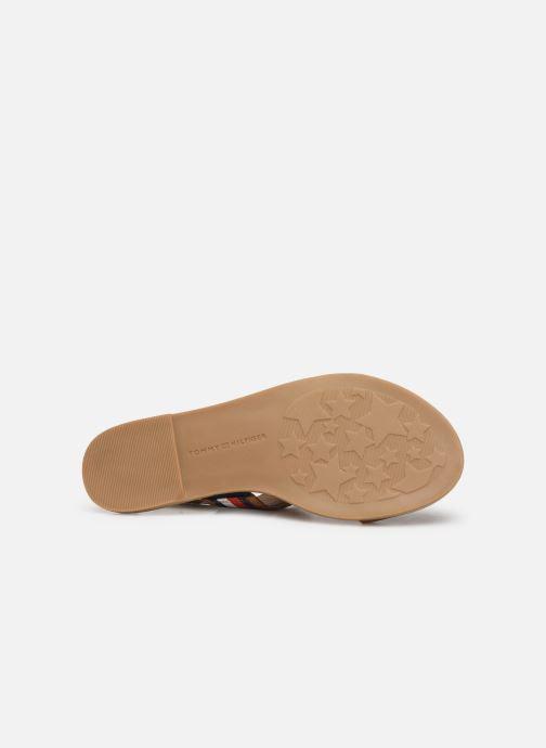 Sandales et nu-pieds Tommy Hilfiger Flat Sandal C Marron vue haut
