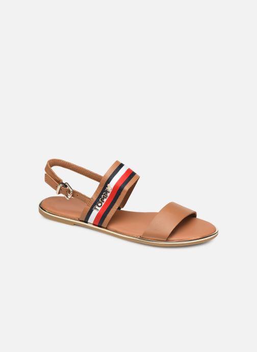 Sandaler Tommy Hilfiger Flat Sandal C Brun detaljeret billede af skoene