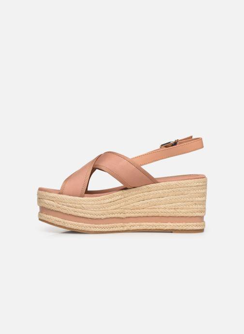 Scarpe di corda Tommy Hilfiger Flatform Sandal Tomm Beige immagine frontale