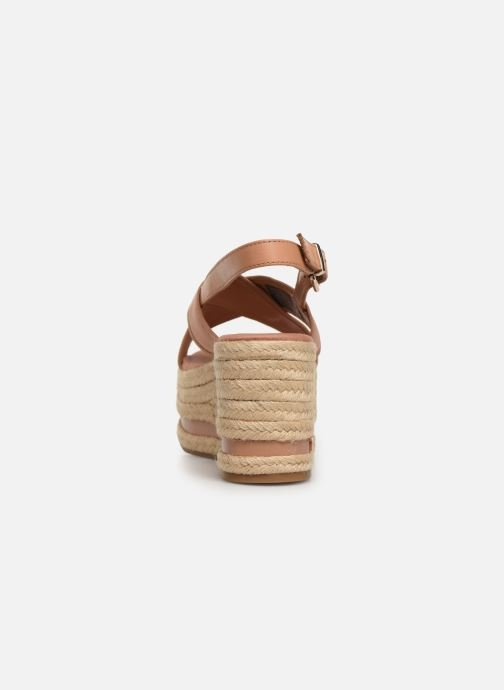 Scarpe di corda Tommy Hilfiger Flatform Sandal Tomm Beige immagine destra