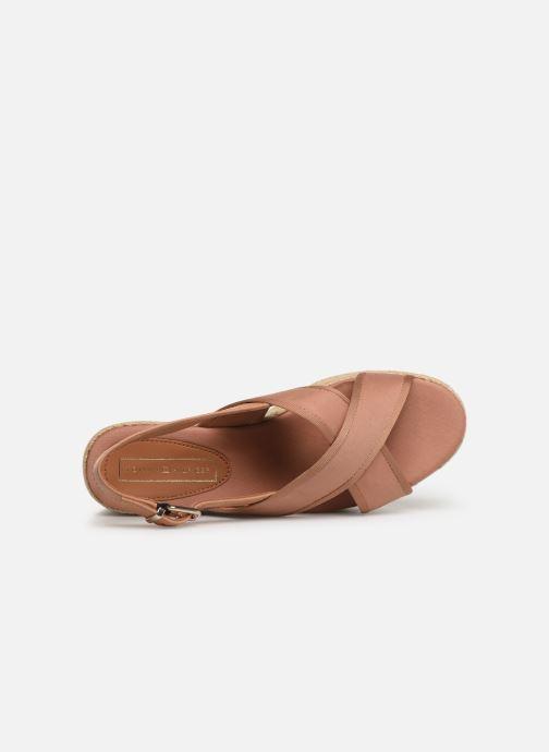 Scarpe di corda Tommy Hilfiger Flatform Sandal Tomm Beige immagine sinistra