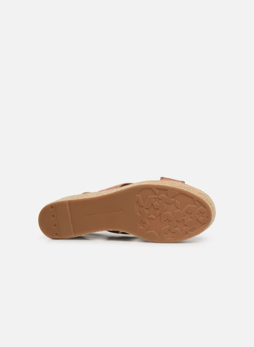 Espadrilles Tommy Hilfiger Flatform Sandal Tomm Beige vue haut