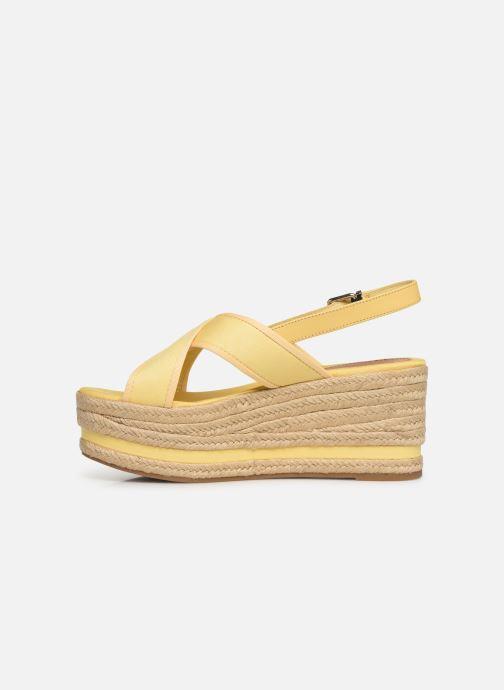 Espadrilles Tommy Hilfiger Flatform Sandal Tomm gelb ansicht von vorne