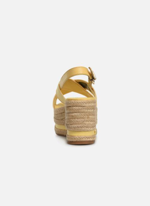 Espadrilles Tommy Hilfiger Flatform Sandal Tomm Jaune vue droite