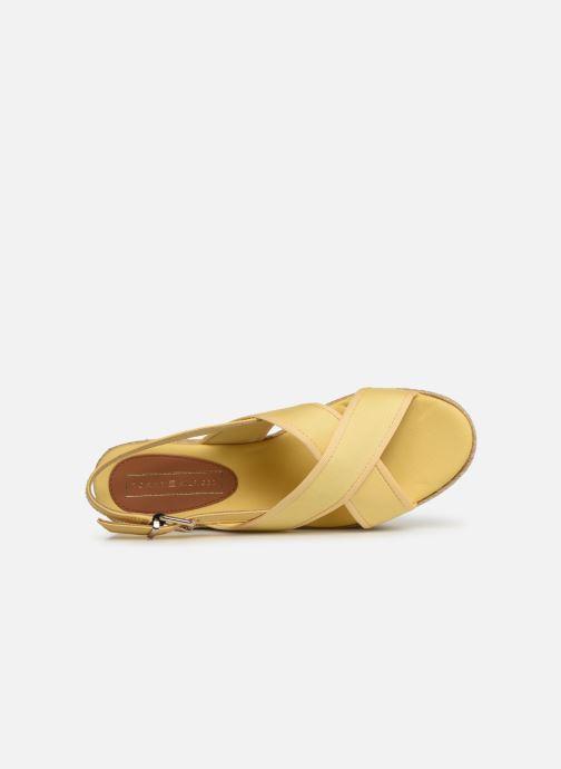 Espadrilles Tommy Hilfiger Flatform Sandal Tomm Jaune vue gauche