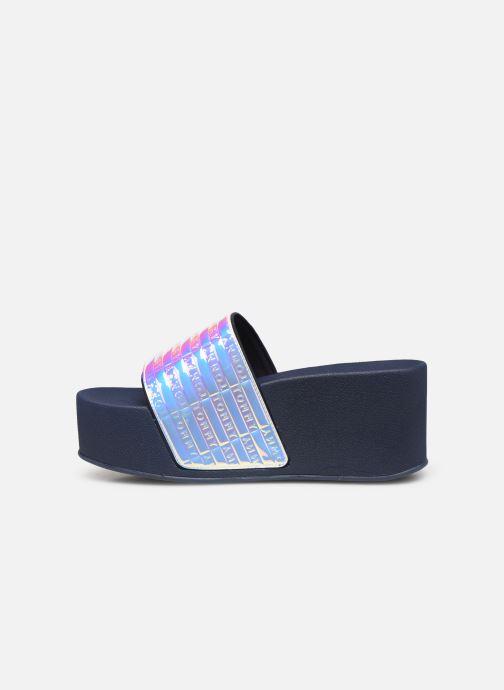 Zuecos Tommy Hilfiger High Pool Slide Shin Azul vista de frente