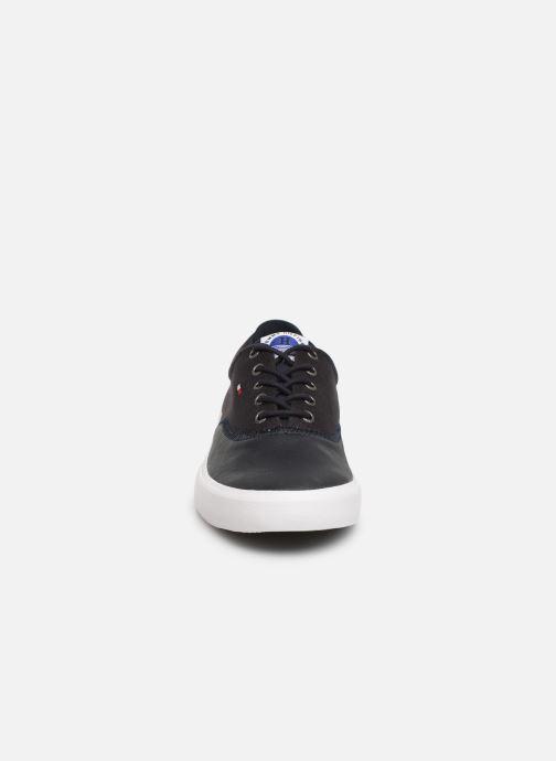 Baskets Tommy Hilfiger Hilfiger Oxford Snea Bleu vue portées chaussures
