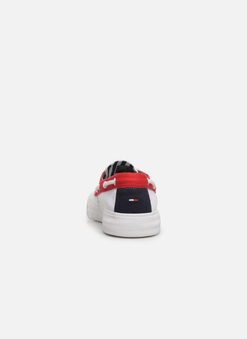 Zapatos con cordones Tommy Hilfiger Hybrid City Sneaker Blanco vista lateral derecha