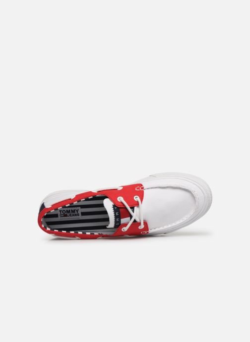Veterschoenen Tommy Hilfiger Hybrid City Sneaker Wit links