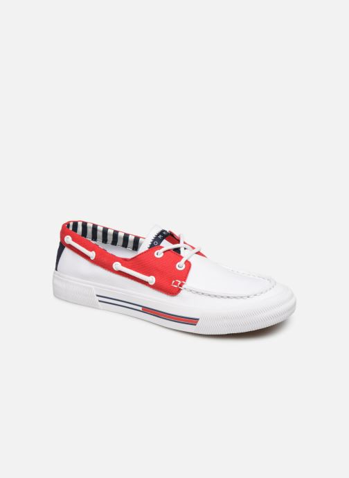 Veterschoenen Tommy Hilfiger Hybrid City Sneaker Wit detail