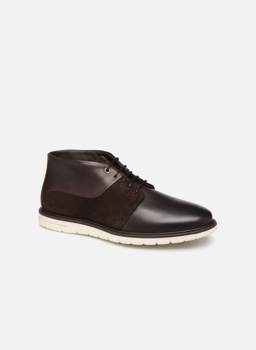 Ankelstøvler Tommy Hilfiger Hybrid Material Mix Brun detaljeret billede af skoene