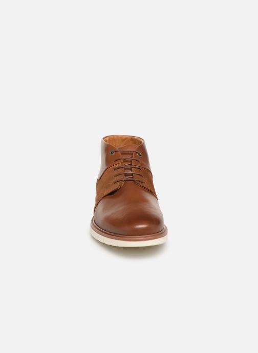 Bottines et boots Tommy Hilfiger Hybrid Material Mix Marron vue portées chaussures