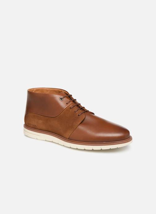 Bottines et boots Tommy Hilfiger Hybrid Material Mix Marron vue détail/paire