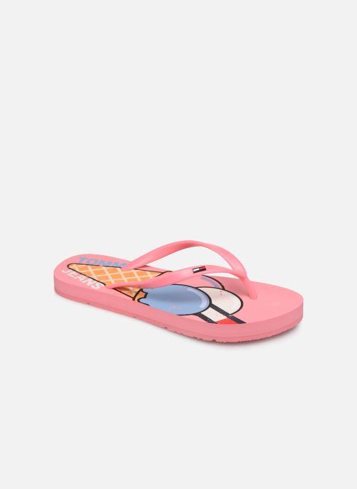 Flip flops & klipklapper Tommy Hilfiger Ice Cream Beach Sand Pink detaljeret billede af skoene
