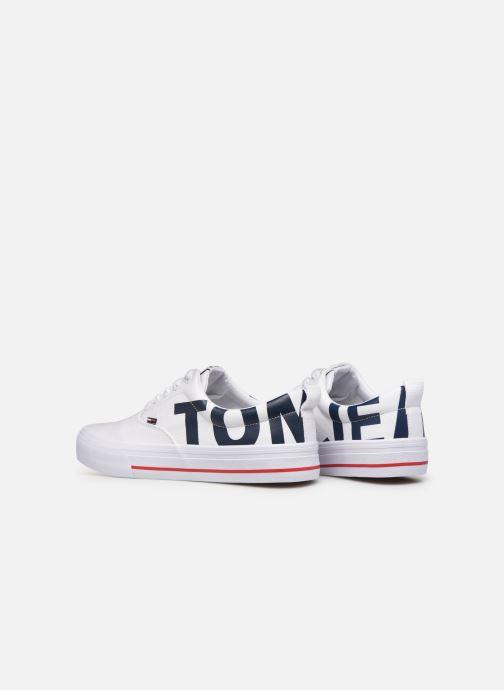 Sneakers Tommy Hilfiger Logo Classic Tommy J Hvid Se fra højre