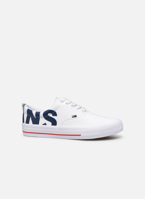 Trainers Tommy Hilfiger Logo Classic Tommy J White back view
