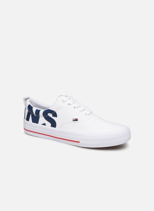Trainers Tommy Hilfiger Logo Classic Tommy J White detailed view/ Pair view