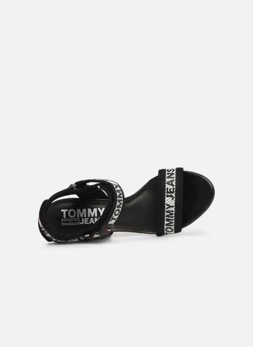 Sandalias Tommy Hilfiger Mesh Webbing Heeled Negro vista lateral izquierda