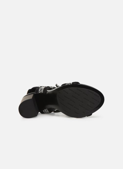 Sandals Tommy Hilfiger Mesh Webbing Heeled Black view from above