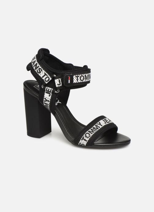 Sandaler Tommy Hilfiger Mesh Webbing Heeled Sort detaljeret billede af skoene