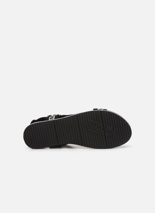 Sandales et nu-pieds Tommy Hilfiger Mesh Webbing Noir vue haut