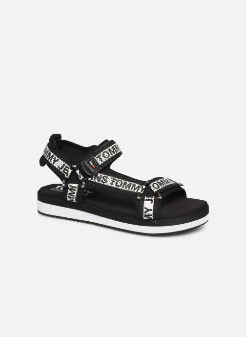 Sandaler Tommy Hilfiger Mesh Webbing Sort detaljeret billede af skoene