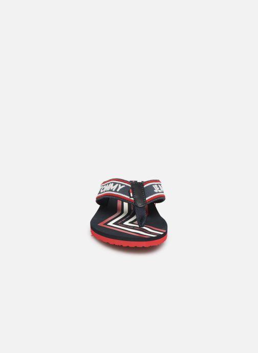 Tongs Tommy Hilfiger Pop Webbing B Bleu vue portées chaussures