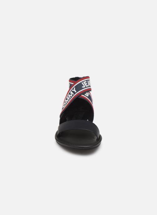 Sandales et nu-pieds Tommy Hilfiger Pop Webbing F Bleu vue portées chaussures
