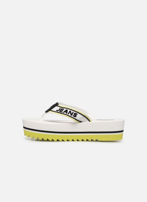 Tongs Tommy Hilfiger Pop Webbing Mid Beac Blanc vue face