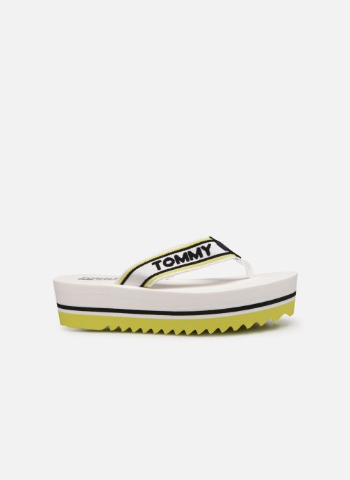 Slippers Tommy Hilfiger Pop Webbing Mid Beac Wit achterkant