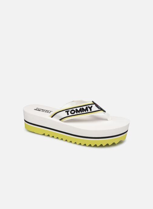 Tongs Tommy Hilfiger Pop Webbing Mid Beac Blanc vue détail/paire