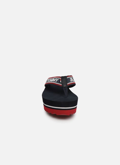 Tongs Tommy Hilfiger Pop Webbing Mid Beac Bleu vue portées chaussures