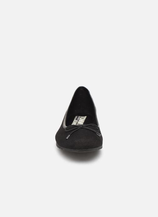 Ballerines Tommy Hilfiger Rubber Patch Ballerine Noir vue portées chaussures
