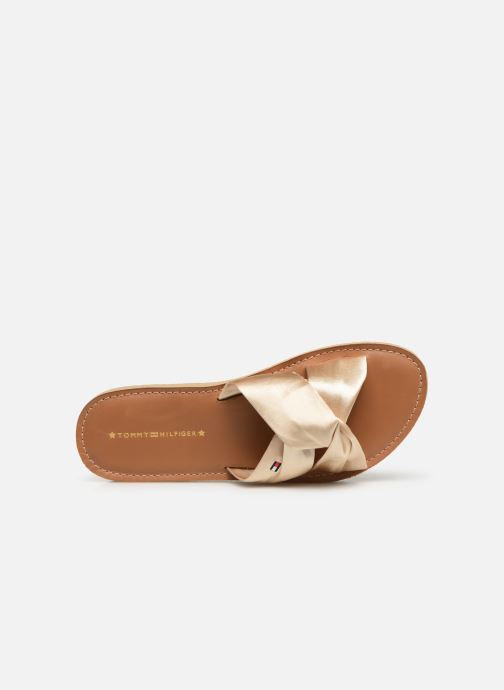 Wedges Tommy Hilfiger Satin Elevate Goud en brons links