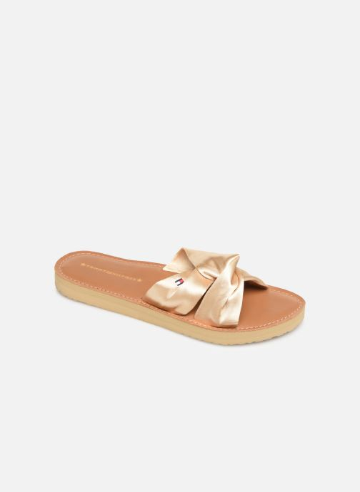 Wedges Tommy Hilfiger Satin Elevate Goud en brons detail