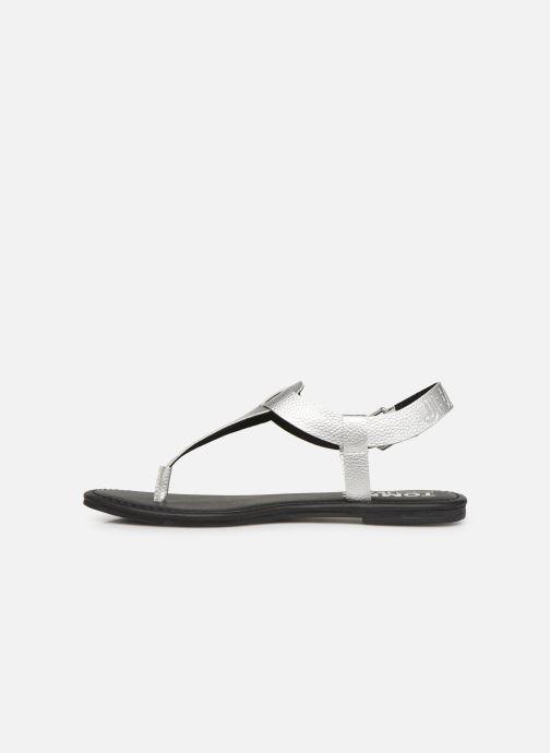 Sandales et nu-pieds Tommy Hilfiger Shiny Metallic Flat Argent vue face