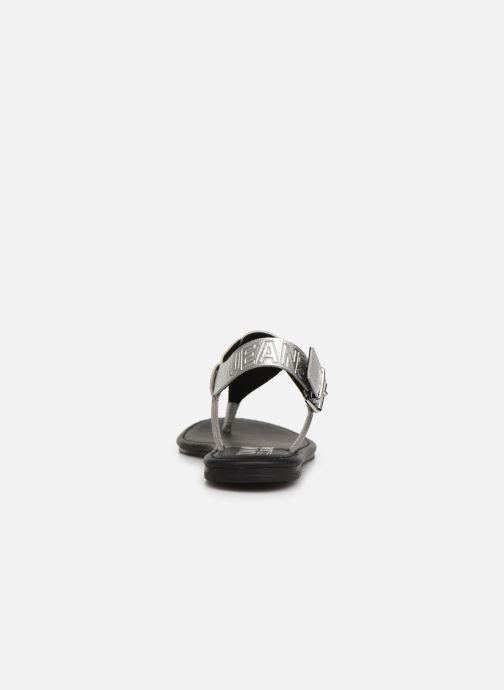 Sandales et nu-pieds Tommy Hilfiger Shiny Metallic Flat Argent vue droite