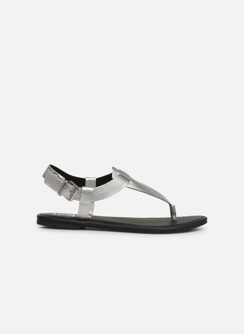 Sandales et nu-pieds Tommy Hilfiger Shiny Metallic Flat Argent vue derrière