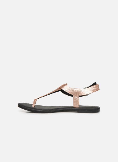 Sandaler Tommy Hilfiger Shiny Metallic Flat Pink se forfra
