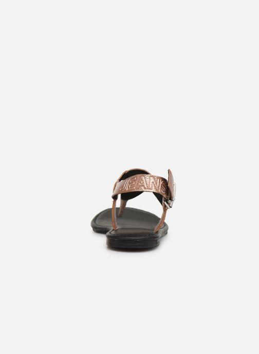 Sandaler Tommy Hilfiger Shiny Metallic Flat Pink Se fra højre