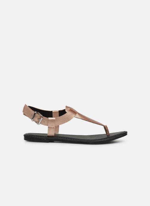 Sandaler Tommy Hilfiger Shiny Metallic Flat Pink se bagfra