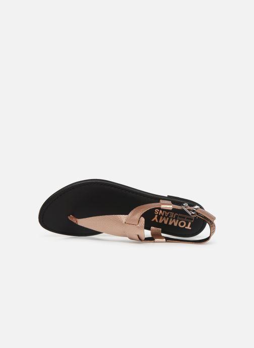 Sandaler Tommy Hilfiger Shiny Metallic Flat Pink se fra venstre