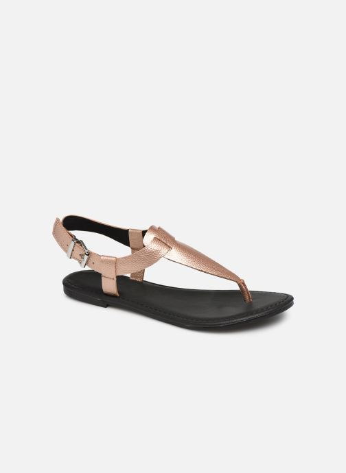 Sandalen Damen Shiny Metallic Flat