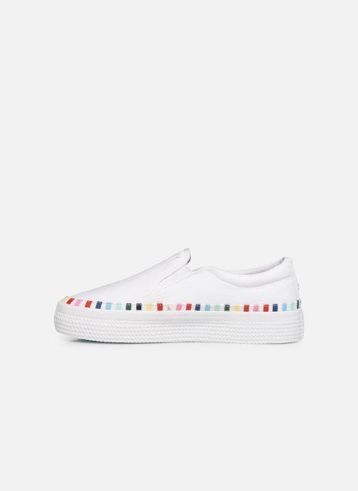 Sneakers Tommy Hilfiger Slip On Rainbow Flat Hvid se forfra