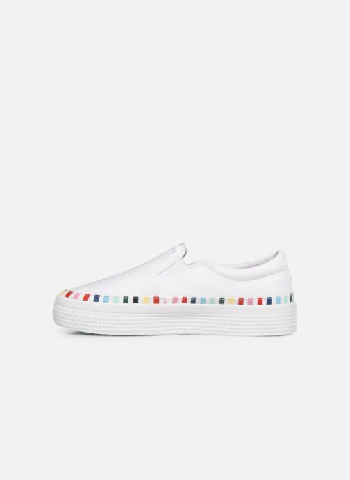 Deportivas Tommy Hilfiger Slip On Rainbow Flat Blanco vista de frente