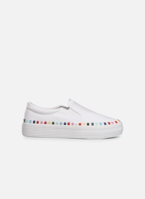 Sneakers Tommy Hilfiger Slip On Rainbow Flat Hvid se bagfra