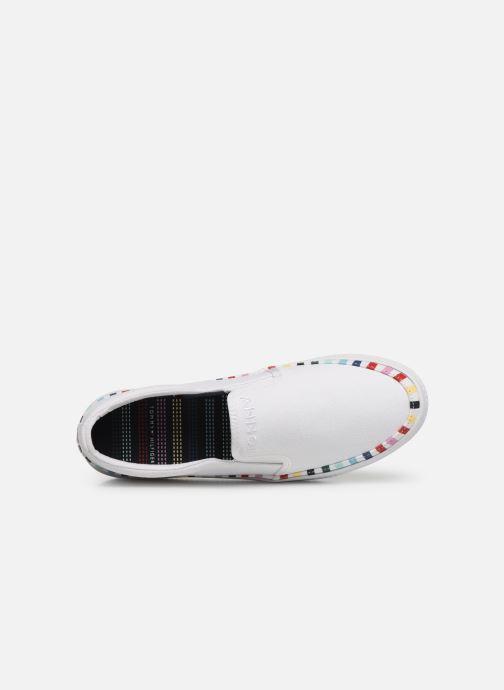 Sneakers Tommy Hilfiger Slip On Rainbow Flat Bianco immagine sinistra